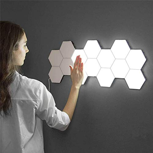 GKJRKGVF Quantum lamp LED Night Light Moon Honeycomb Night Lamp Wandlamp Intelligente wandlamp dimbaar voor slaapkamers