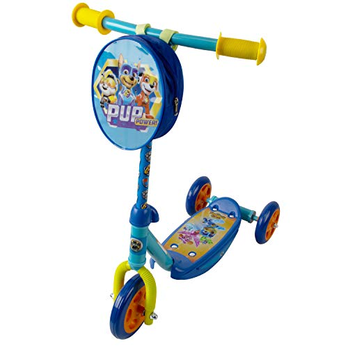 PlayWheels PAW Patrol 3 Wheel Scooter for Kids, Blue