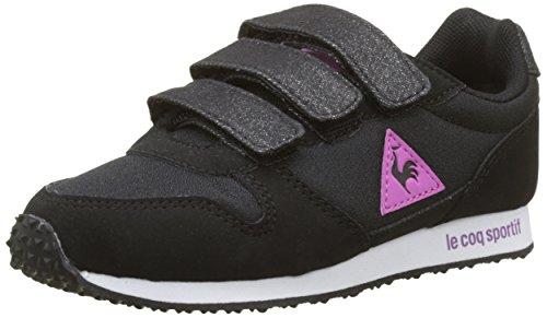 Le Coq Sportif Mädchen Alpha Ps Princess Sneaker, Beige (Black/Meadow Mauve Noir), 31 EU