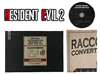 Biohazard RE 2  Resident Evil 2  Collector s Edition Ben s File Art Book Hardcover & Original Soundtrack & Racoon Police Station Map Set