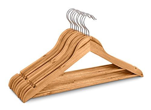 Highliving, 20Stück hochwertige Kleiderbügel aus Holz für Anzug, Hosen, Kleider, Kleidung