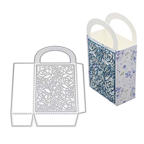 Stanzschablonen für Kartenherstellung, stereoskopisches Box-Design, Metall, DIY, Scrapbooking, Prägung, Papierschablone, silberfarben