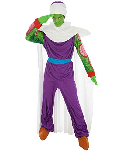 Disfraz Dragon Ball Piccolo 7tlg Verde púrpura - M
