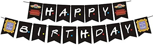 Friends TV Show Banner Happy Birthday Party Supplies 30th Birthday Decor Gifts for Best Friends product image