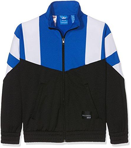 adidas Jungen J EQT Tracktop Sweatshirt, Schwarz (Negro/Azul/Blanco), 140