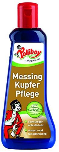 Poliboy - Messing Kupfer - Reiniger und Pflege von Messing und Kupfer - Anlaufschutz - 200 ml - Made in Germany