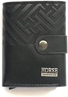 Leather Hand crafted Wallet money organizer for Men (Brown)