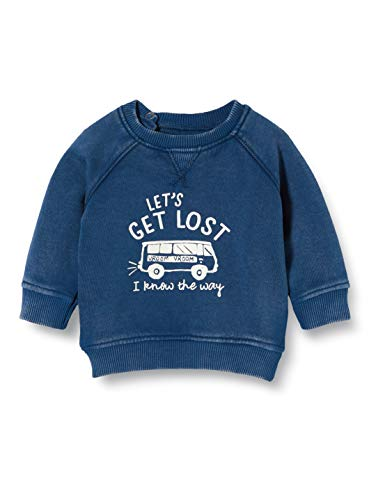 Noppies Baby-Jungen B Sweater ls Arden Hills Sweatshirt, Blau (Indigo Blue P145), (Herstellergröße: 68)