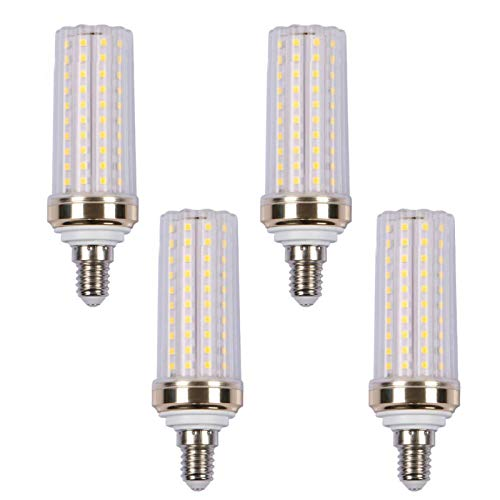 LXcom 20W E12 LED Corn Light Bulb(4 Pack)- 2835 SMD 88 LEDs 150 Watt Equivalent 1500LM Daylight White LED Chandelier Bulbs E12 Candelabra Corn Bulb Lamp for Home Lighting, Non Dimmable, AC85-265V
