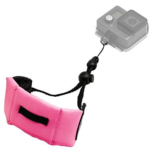 Kolasels Waterproof-Non-slip Camera Float Strap with Hand Grip Lanyard, Wristband for Underwater GoPro,Waterproof Camera, Keys,Sunglass,etc (pink )