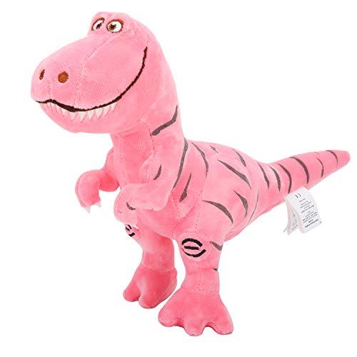 Zooawa Juguete Peluche de Tiranosaurio de Tela Suave y Algodón de PP, Juguete de Felpa Tyrannosaurus con Importancia Educativa y Experiencia de Mundo Jurásico Real para Niños – Rosa
