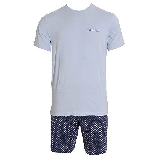 Calvin Klein Herren Pyjama-Set Kurz zweiteilig bleu (50) XL
