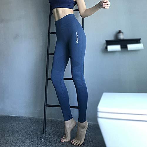 4-way stretch yoga-legging,Hippe yogabroek met hoge taille, vrouwelijke stretch hippe panty-donkerblauw_S,Yogabroek extra zachte legging met zakken voor dames