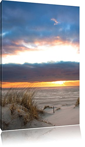 Nordseeküste Nordsee Deutschland, Format: 80x60 auf Leinwand, XXL riesige Bilder fertig gerahmt mit Keilrahmen, Kunstdruck auf Wandbild mit Rahmen, günstiger als Gemälde oder Ölbild, kein Poster oder Plakat