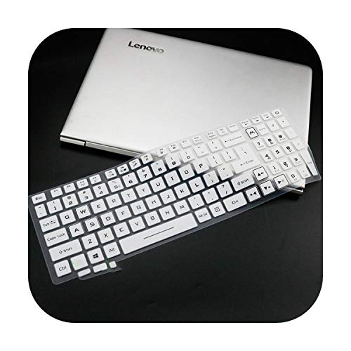 Laptop Keyboard Cover Protector For For Asus Aspire Nitro 5 An515 54 15.6'' / Aspire Nitro 7 An715 51 17.3'' Predator Gaming An 515-White-