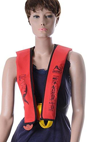 wellenshop Rettungsweste Lalizas Alpha 170N Erwachsene manuelle Auslösung rot ab 40 kg