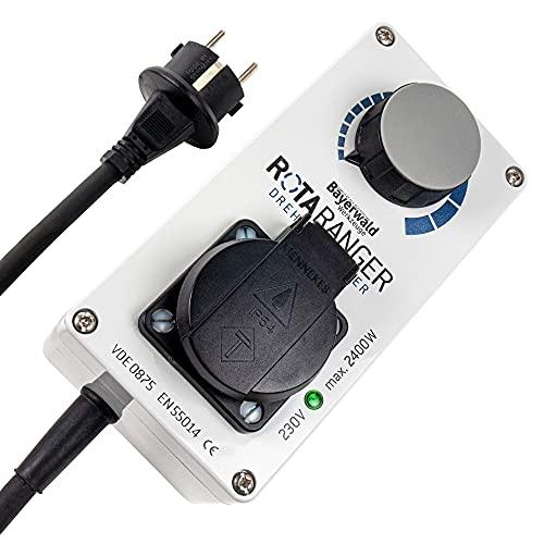 Elektronischer Drehzahlregler - 230V bis 2400 Watt | Bayerwald RotaRanger | Drehzahl von Kreissägen und anderem Werkzeug stufenlos einstellen - Hergestellt in Deutschland