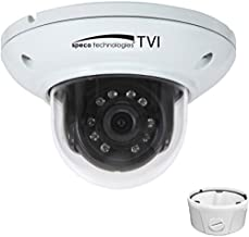 SPECO HD-TVI 2MP IR Mini-Dome Camera with Junction Box, 3.6mm Fixed Lens, White Housing, HTMD2T - NEW