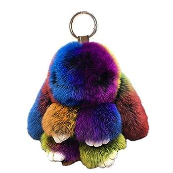 bunny puff keychain