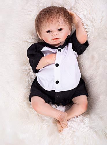 """ASDAD Diseño 46Cm Soft Silicone Doll Reborn Baby 17""""Juguete para Bebé Recién Nacido Bebé Regalo De Cumpleaños para Niños Hora De Acostarse Educación Temprana"""