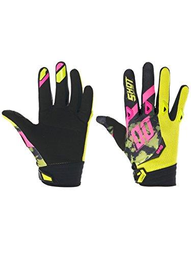 Shot 2017 Herren Motocross / MTB Handschuhe - SQUAD - lime-neon-rose: Größe Handschuhe: L / 10