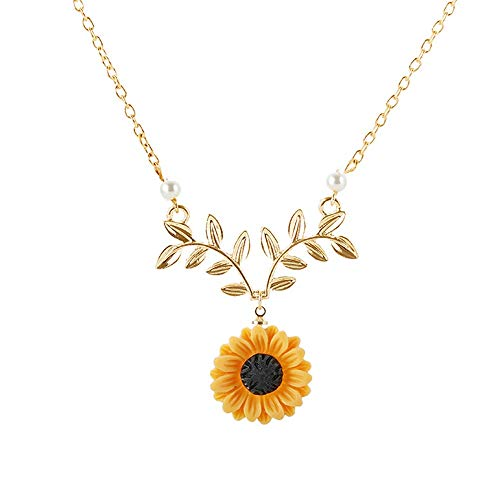 Makluce Inspirational Necklace, 2PCS Sunflower Pendant Necklaces You Are My Sunshine Pendant Jewelry Gifts For Birthday Christmas Valentines Day