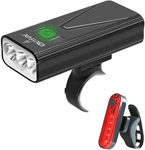 USB Rechargeable Bike Light Set 3000 Lumens Bike Headlight 3 LED Upgrade Mount Super Bright product image