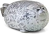 KOWAKA Cute Blob Seal Pillow, Soft Chubby Hug Stuffed Cotton Animal Plush Pillow Toy( White XL 80cm)