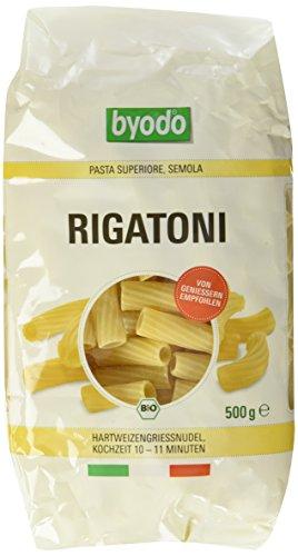 Byodo Rigatoni hell, 6er Pack (6 x 500 g Packung) - Bio