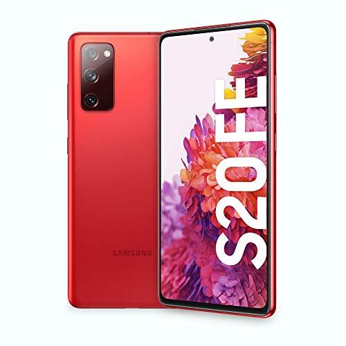 "Samsung Smartphone Galaxy S20 FE, Display 6.5"" Super AMOLED, 3 fotocamere posteriori, 128 GB Espandibili, RAM 6GB, Batteria 4.500mAh, Hybrid SIM, (2020) [Versione Italiana], Rosso (Cloud Red)"