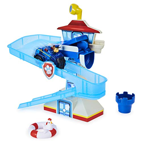 Paw Patrol, Adventure Bay Bath Playset with Light-up Chase Vehicle,...