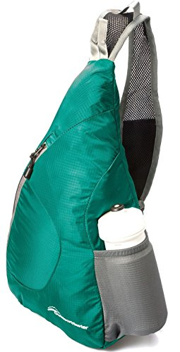 OutdoorMaster ワンショルダーバッグ 斜めがけバッグ ボディバッグ メンズ レディース 折り畳み収納可能 アウトドア軽量 防水 7色 (海緑)