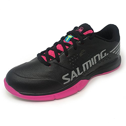 Salming Damen Viper 5 Indoor Court Sportschuhe, Schwarz/Pink Jewel, 10
