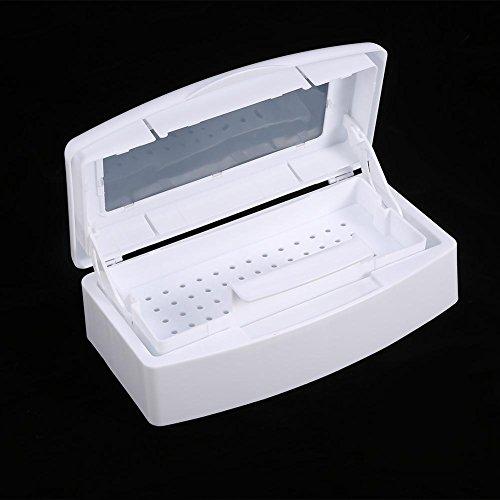 Herramientas De Manicura Caja De Desinfección UV, Herramientas Para Uñas Bandeja De Esterilizador Caja De Esterilización Contenedor De Desinfección Herramientas De Manicura Para Salón
