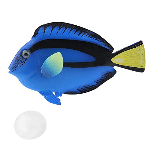 Pssopp Acuario Peces Artificiales Peces flotantes Falsos Peces Tropicales Divertidos Luminosos de Silicona Realistas en Movimiento Peces Ornamentos Decoraciones con Ventosa(#2)