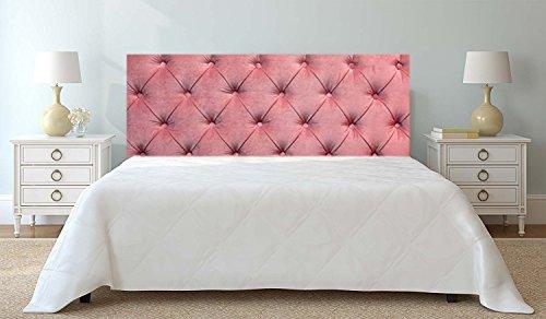 Cabecero Cama PVC Impresión Digital sin Relieve Rosa 100 x 60 cm | Disponible en Varias Medidas | Cabecero Ligero, Elegante, Resistente y Económico