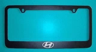 Hyundai Logo Black License Plate Frame (Zinc Metal)
