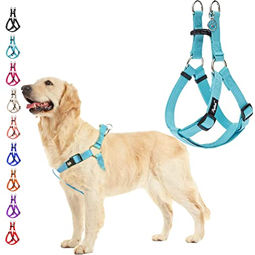 PUPTECK No Pull Dog Harness Soft Adjustable Basic Nylon Step in Puppy Vest Outdoor Walking with ID...