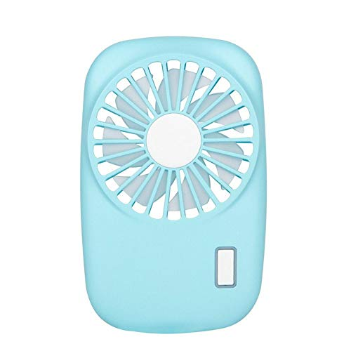 TONGSH Small Personal Fan Mini Handheld USB Desk Fan and Portable Charger,Best Using in Travel, School,Office,Kitchen,Outdoor Sport,Camping Equipment.(Blue)