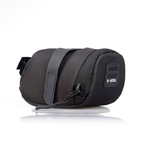 Kurphy B-SOUL - Bolsa impermeable plegable para bicicleta de montaña, carretera, sillín de bicicleta, bolsa trasera, color negro
