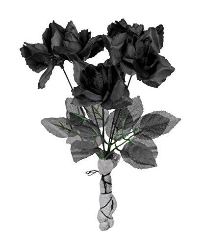 Boland 74544 - Rosenstrauß, Dekorationen, Circa 28 cm, schwarz