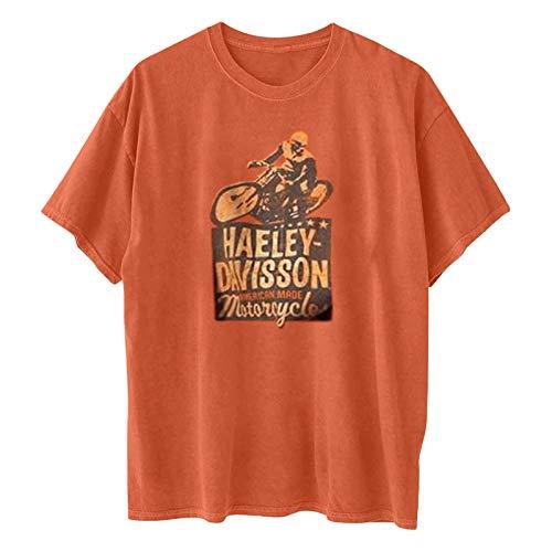 2021 Nouveau T-Shirt emme Tee Shirt Ete T-Shirt à Manches Courtes rétro Debardeur Femme Lâche Hauts Chemisier Tee Shirt Manche tombantes Casual Grande Taille Chic Sexy Crop Pas Cher Décontracté Tops