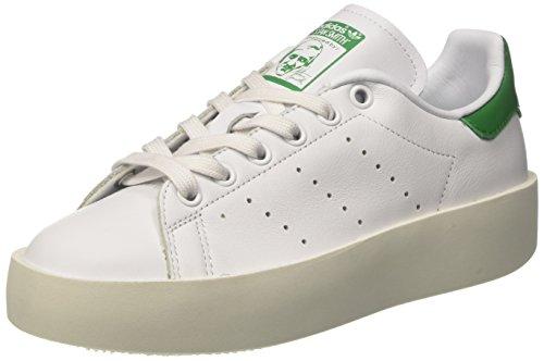 adidas Stan Smith Bold W, Scarpe da Ginnastica Basse Donna, Bianco (Footwear WhiteFootwear WhiteGreen), 38 23 EU