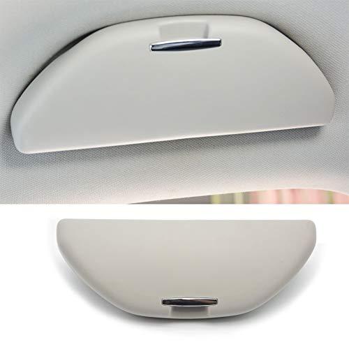 Xiaokai Dauerhaft Auto-Glas-Kasten Sonnenbrille Halter-Aufbewahrungsbehälter Fit for VW Polo 6R for Skoda Rapid-Octavia Fabia Superb Für Autos (Color : Gray)