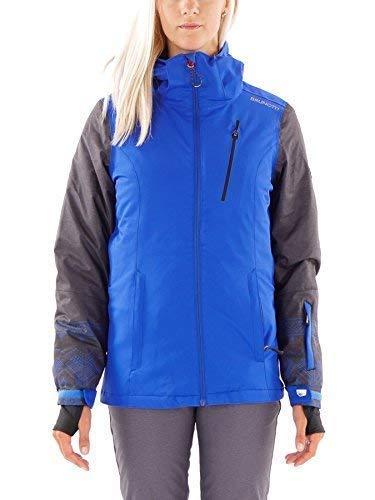 Brunotti snowboardjas winterjas Jalbera blauw ademend geïsoleerd