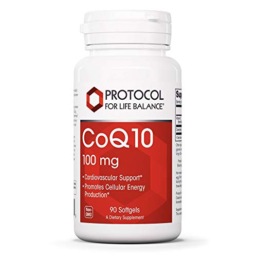Protocol For Life Balance - CoQ10 100mg - Supports Healthy Heart Muscle with Vitamin E and Lecithin, Cardiovascular and Circulatory Health, Antioxidant Rich, Cellular Energy Production - 90 Softgels