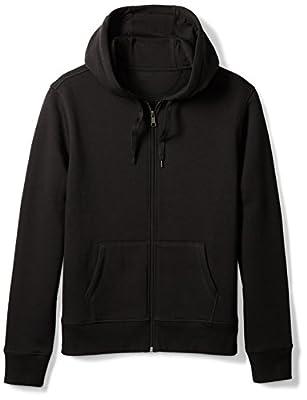 Amazon Essentials Men's Full-Zip Hooded Fleece Sweatshirt, Black, Large from Amazon Essentials