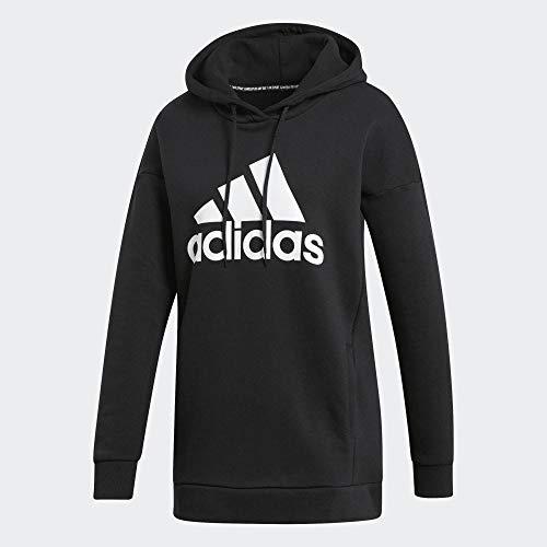 adidas Damen W MH BOS OH HD Sweatshirt, Black, M
