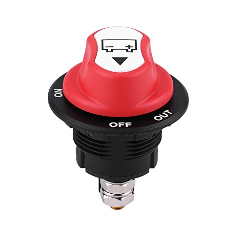 Qiilu Max 32V 100A CONT 150A INT Marche/Arrêt Interrupteur d'isolateur de batterie de voiture Coupure de courant Coupure Interrupteur pour Voitures/Hors route Véhicule/Camions