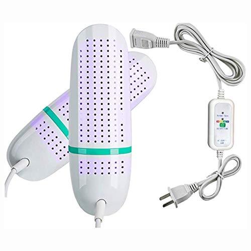 XFSHKJS Secador de Zapatos eléctrico Calentador de Botas de esquí Calentador de Calzado portátil con Temporizador UV Desodorante Secado Previene Las bacterias del Olor para secar los Calcetines (UV)